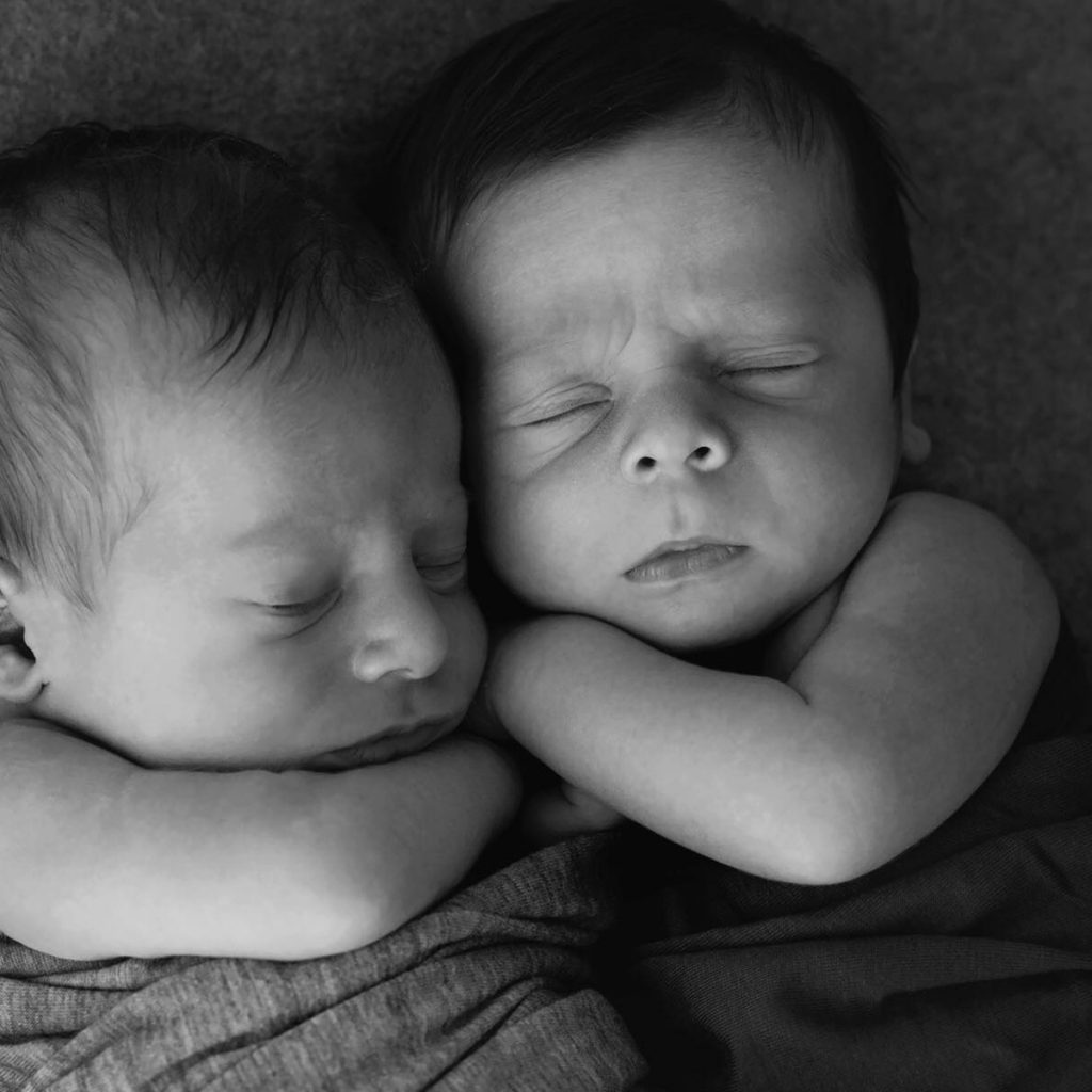 Newborn Twins James and Owen