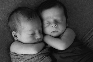 Newborn Twins James and Owen