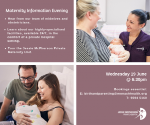 June Maternity Information Evening